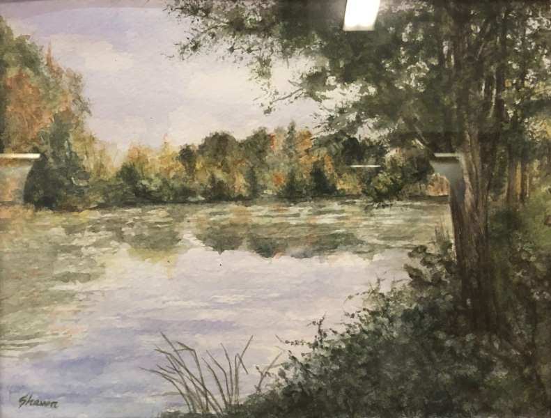 Hartindale Pond, watercolour, by Shawn Paterson-Laing