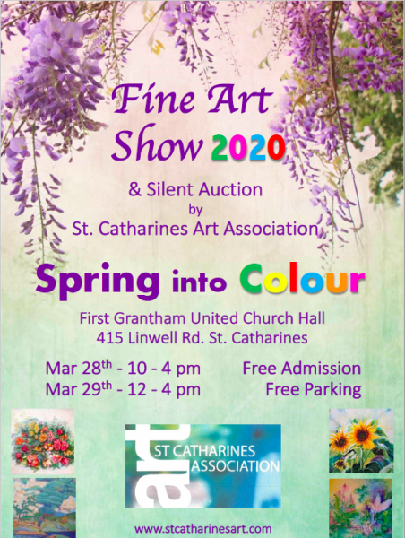 Spring into Colour Fine Art Show, 2020 - share on social media!