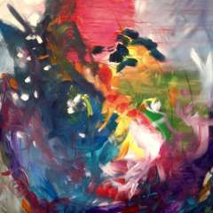 April 2018 - Painting Abstracts Demonstration by Lenore Walker