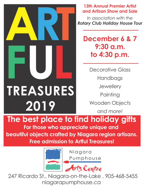 Artful Treasures 2019 at the Niagara Pumphouse Arts Centre