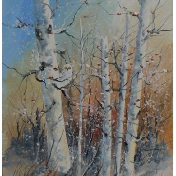 """Winter Blues"" 1-Day Creative Painting Workshop"