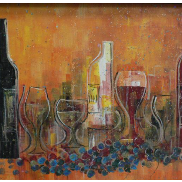 """Majestic Merlot"" 1-Day Creative Painting Workshop"