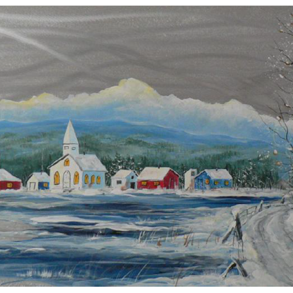 """Winter Village"" 1-Day Creative Painting Workshop"