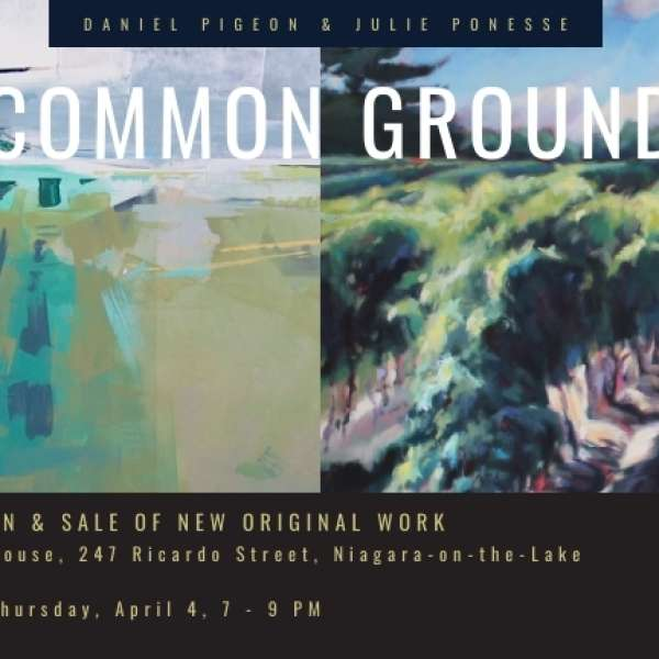 "Reminder for ""Common Ground"" Opening Reception, April 4, 2019"