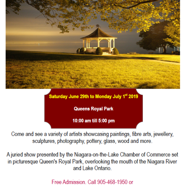Annual NOTL Chamber of Commerce Artistry by the Lake Show