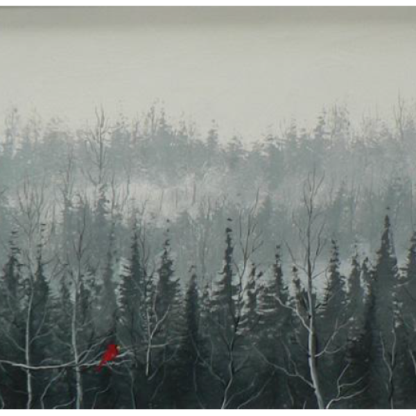 """Forest Cardinal "" 1-Day Creative Painting Workshop"