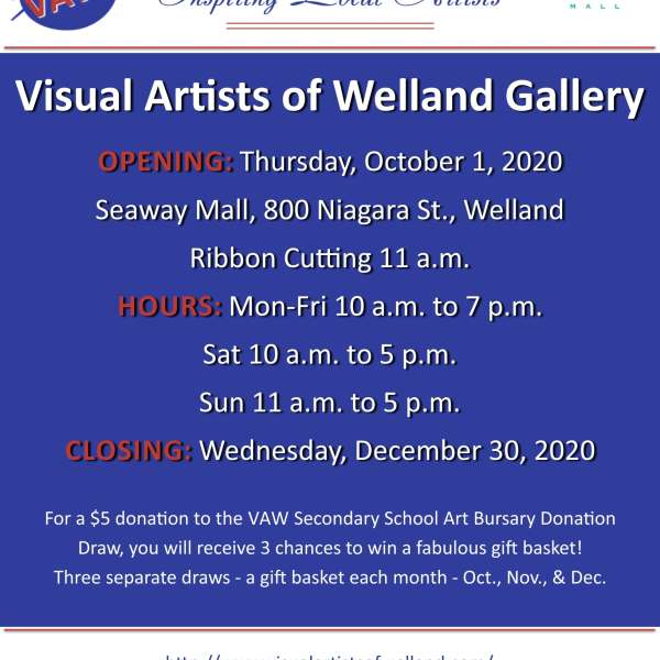 New! VAW Gallery Shop at Seaway Mall in Welland, ON