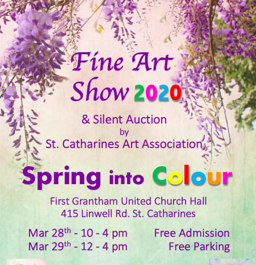 SCAA Spring into Colour Fine Art Show & Silent Auction, 2020